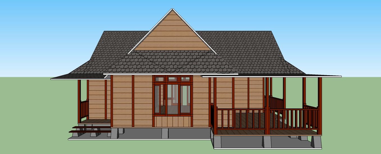 Jual Desain Rumah Kayu Murah Bandung Gambar